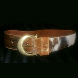 Byblos Accessories - Final price. Byblos calf hair belt 44