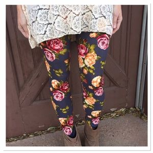 Infinity Raine Pants - ✨2 for 35 sale✨ Charcoal floral print leggings OS