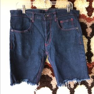 The Hundreds Other - The hundreds denim jean shorts red stitching 32