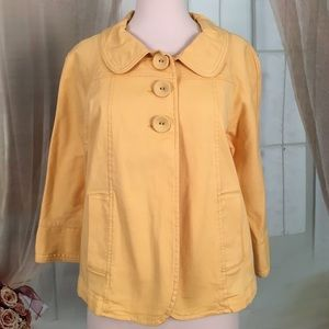 Larry Levine Jackets & Blazers - Larry Levine Yellow Jacket