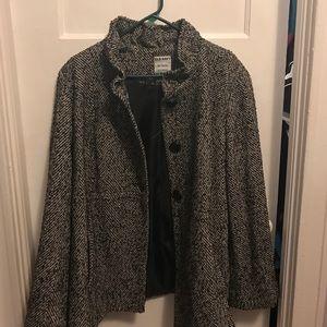 Old Navy Jackets & Blazers - Black tweed swing jacket xxl