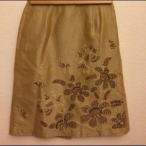 Ann Taylor Dresses & Skirts - Elegant Crinkled Tan Skirt.💥SALE💥