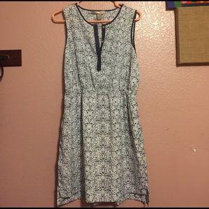Forever 21 Dress Sz M White Blue Sleeveless