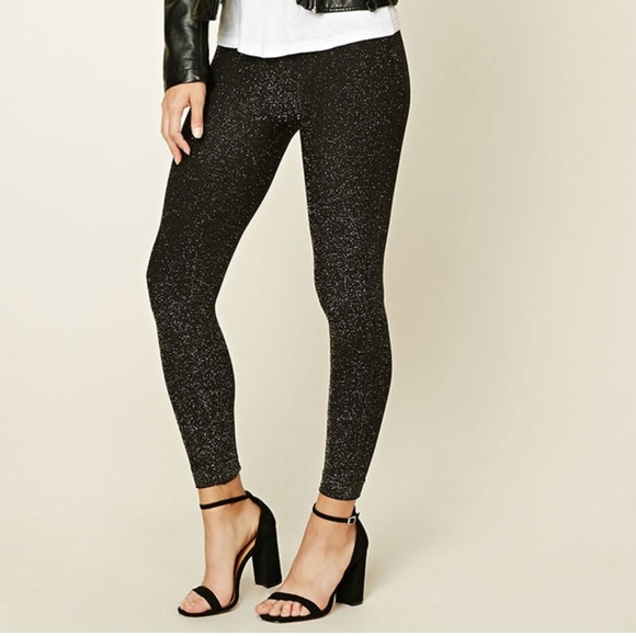 f77f809a Forever 21 Pants | Sparkly Leggings | Poshmark
