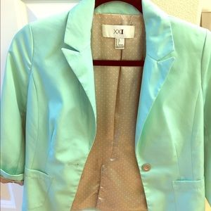 Forever 21. Mint green blazer. Size 4.