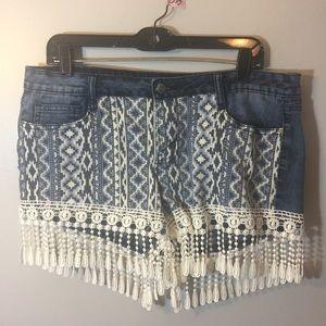 lei Pants - #333 Fringe shorts