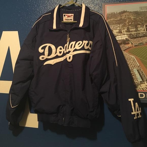 Navy New XXL Brooklyn Dodgers Majestic Men/'s Shower Rain Jacket