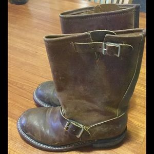 Double H Engineer Boots Size 6 Brown Leather