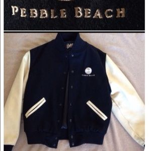 Other - Pebble Beach Resort wool/ leather Varsity Jacket