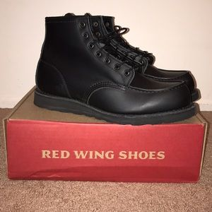 "Red Wing Shoes Other - Red Wing 6"" Moc Toe Boots Black Skagway Size 11"