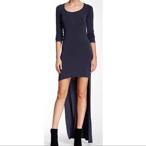 GO COUTURE New Small Black Hi Low 3/4 Dress