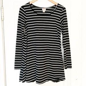 Mossimo Black And White Striped Tunic