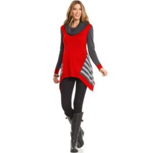 SALE* STYLE & CO Red Cowl Tunic Sweater NWT $60 1X