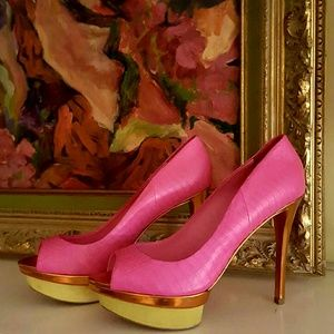 B Brian Atwood Shoes - B Brian Atwood Snake Embossed Pump
