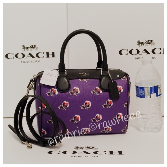 2026c8daee01 SALE New Coach Floral Bramble Rose Satchel