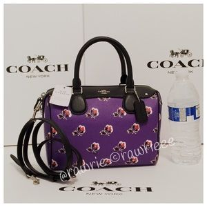 FLASHSALE New Coach Floral Bramble Rose Satchel