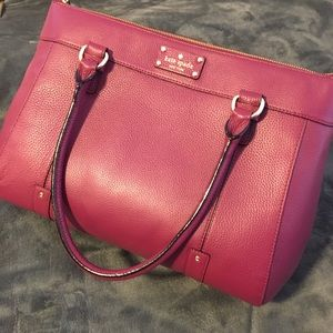 Kate Spade berry/pinkish large tote bag