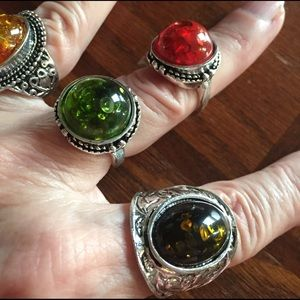 Jewelry - Multicolored stone rings