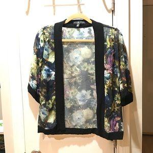 Little Mistress Tops - Flower Kimono Jacket