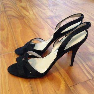 Oscar de la Renta Shoes - Oscar de la Renta sling back black heels size 36.5