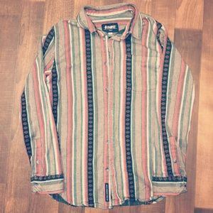 Altamont Tops - Long sleeved button flannel style shirt