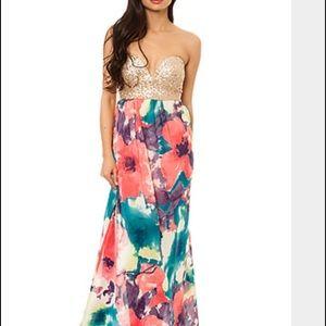 Reverse Dresses & Skirts - Reverse maxi sequin bustier dress