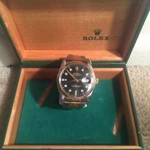 Rolex Accessories - Authentic Rolex watch with diamonds