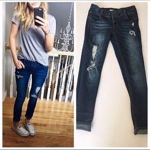 distressed high waisted skinny jeans on Poshmark