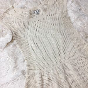 American Eagle Outfitters Tops - AE crochet peplum top or coverup