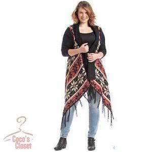 Relativity Sweaters - NWOT Aztec fringed cardigan