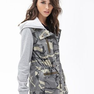 camo sweatshirt jacket