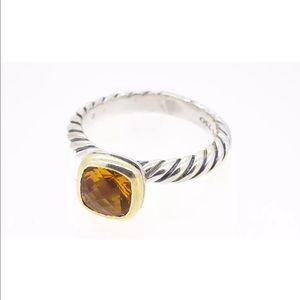 David Yurman Jewelry - David Yurman 18kt/Sterling Citrine Cable Ring