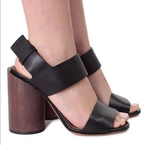 Givenchy Shoes - Givenchy Edgy sandals black wooden heel