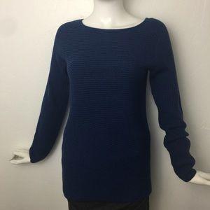 J. McLaughlin Sweaters - J. McLaughlin Ribbed Italian Merino Wool Sweater
