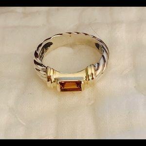 David Yurman Jewelry - David Yurman 14kt/Sterling Citrine Ring