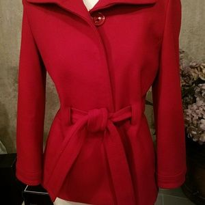 Darling Red Coat EUC !
