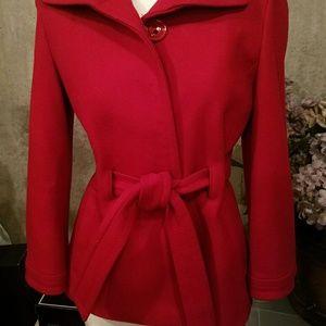 Darling Red Coat EUC !