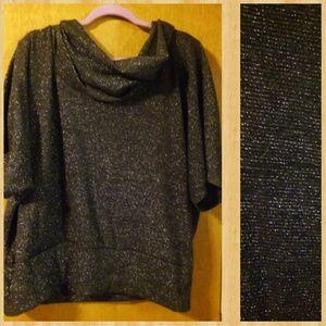 Sweaters - 🔥METALLIC GREY SWEATER-BLOUSE