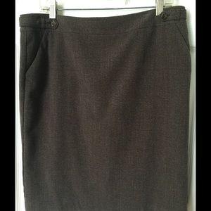 Skirt,  Brown tweed.