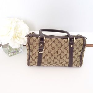 Gucci Handbags - GUCCI Boston Bag brown monogram canvas