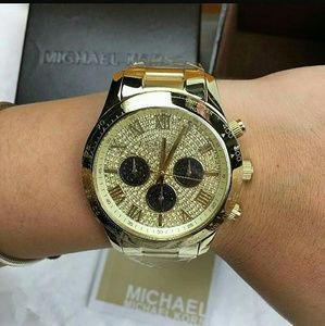 Michael Kors  Accessories - NWT Michael Kors Crystal Chronograph gold watch