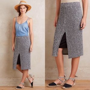 New Anthropologie Dolan Marl Ribbed Knit Skirt