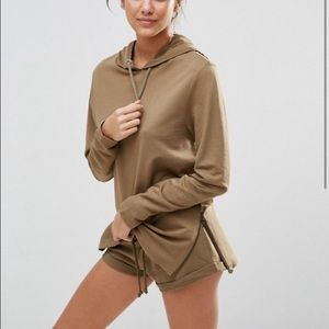 ASOS Lounge Oversized Side Zip Hoodie