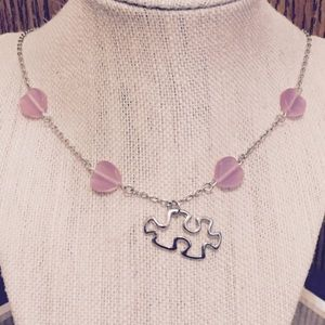 Jewelry - Puzzle Piece Heart Necklace