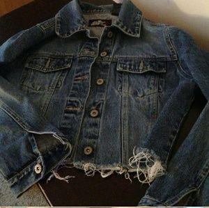 Denim - Denim Jacket- frayed rock and roll style