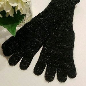 Accessories - Gold Speckled Knit Gloves