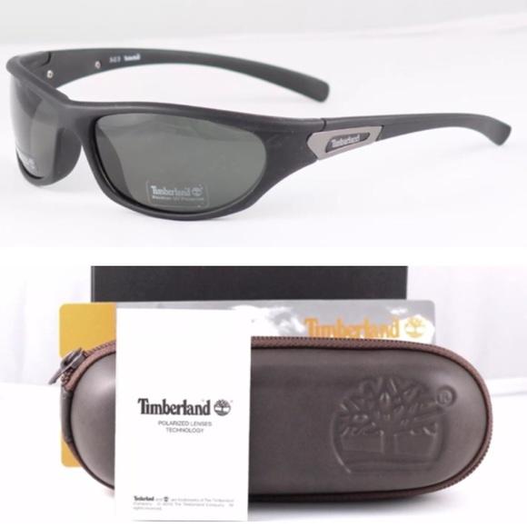 19e46957c94 NWT Black Timberland Wrap Sunglasses MEN s SALE!