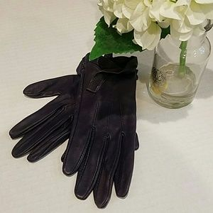 Mango Accessories - Ruffled Leather Gloves