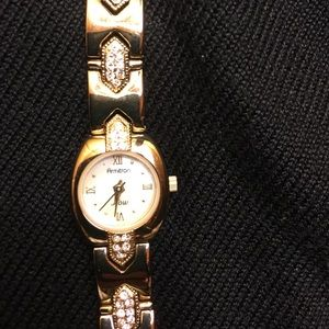 armitron Jewelry - Swarovski Crystal  Gold-Tone Bracelet Watch