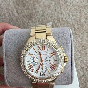NWT Michael kors Crystal chronograph watch